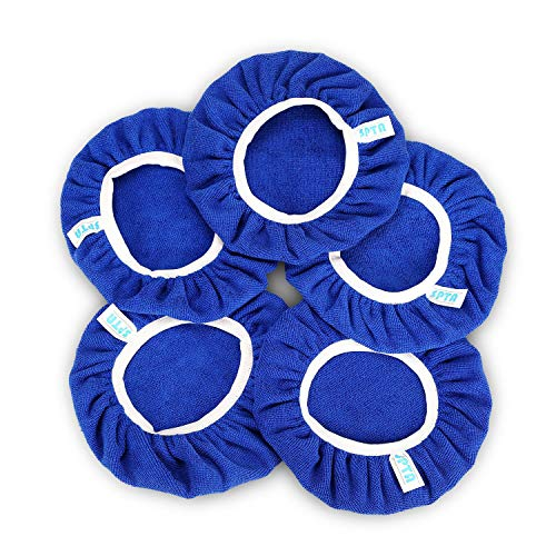 SPTA 9 Inch & 10 Inch Car Polisher Pad Bonnet Soft Microfiber Polishing Bonnet Buffing Pad Cover for 9