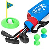 Best Choice Products 13-Piece Kids Golf Set w/ 3 Clubs, 3 Balls, Tees, Hole, and Carrying Bag - Multicolor
