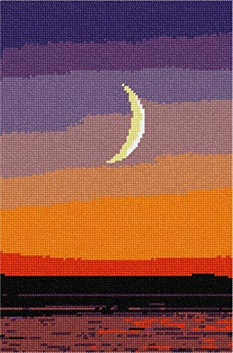 pepita Moon at Sunset Needlepoint Canvas