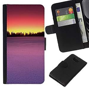 Stuss Case / Funda Carcasa PU de Cuero - Sunset Beautiful Nature 75 - Samsung ALPHA G850