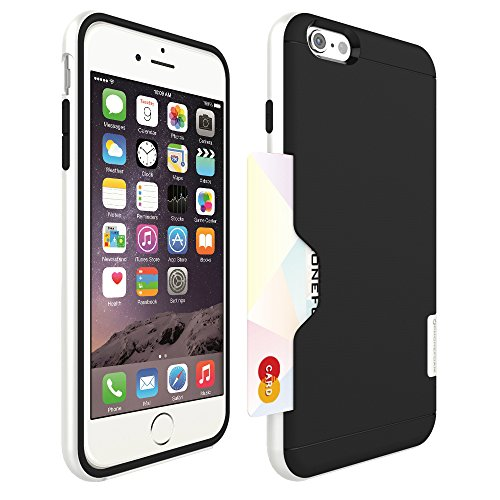 Iphone 6 (5.5) Plus, Phonefoam® Golf Line Series [Perfect Fit Bumper] [Heavy Drop Protection] [Air Protection] Credit Card Holder Case - Retail Packing for Apple Iphone 6 Plus (Pure White)