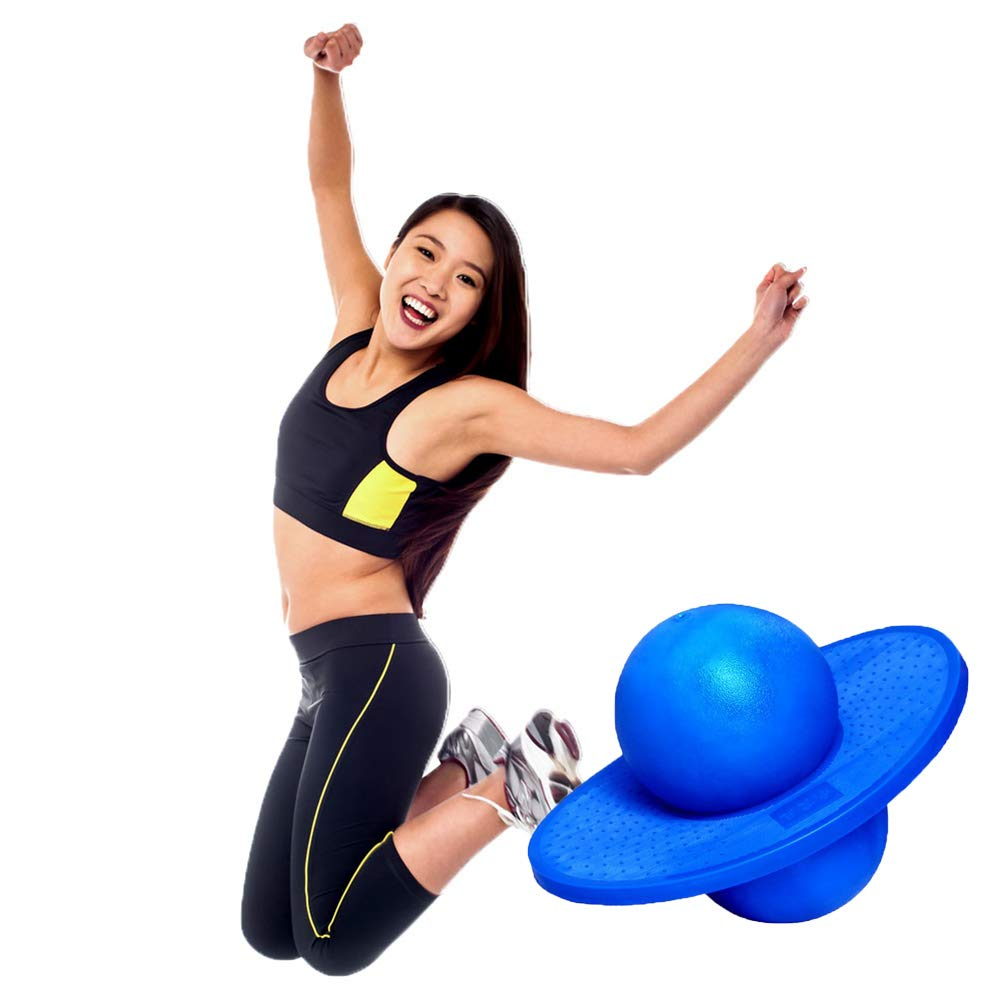 Perfect Air Kicks Toys for Kids Ages 6 /& Up and Adults Multi-Bule Pogo Jumper with Trick Board /& Ball Pump Great Hopper Ball for Kids