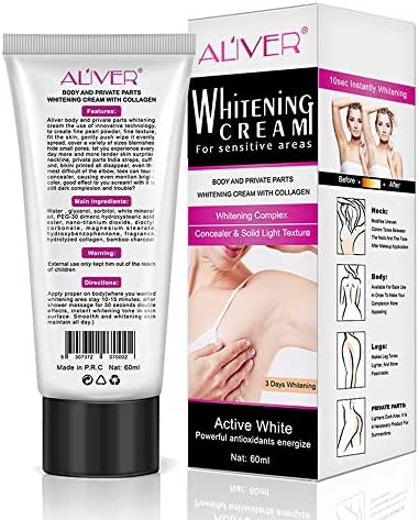 Underarm Whitening Cream, Skin Lightening Armpit Private Part Whitening Lip Pink Nipple Face Body Color Fading Product Intimate Bleaching Cream, Natural Ingredients Get Rid of Dark Fast, 60ml
