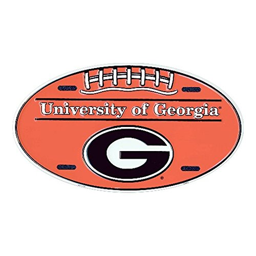 University of Georgia Bulldogs Dawgs Embossed Novelty Vanity Metal Oval License Plate Tag Sign OV70002
