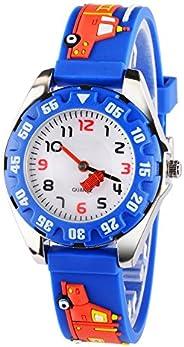 Venhoo Kids Watches 3D Cute Cartoon Digital Waterproof Silicone Children Wristwatches Time Teacher Gifts for B