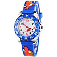 Venhoo Kids Watches 3D Cute Cartoon Waterproof Silicone Children Wrist Watches Time Teacher Gift for Boys Girls Little Child