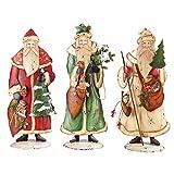 Antique Style Old World Santa Metal Figures, Assorted 3