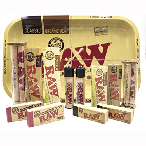 (Bundle - 13 Items - RAW Rolling Paper R.y.o (Roll Your Own) Cigarette Kit)
