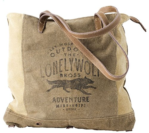 (Clea Ray Recycled Green Canvas Leather