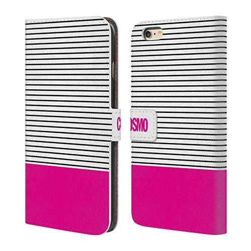 Official Cosmopolitan Pink 1 Stripes Collection Leather Book Wallet Case Cover For Apple iPhone 6 Plus / 6s Plus