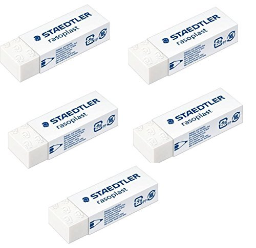 Staedtler Large Rasoplast Pencil Eraser (526 B20) Pack of 5 Erasers