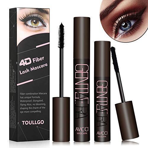 4D Silk Fiber Lash Mascara, Fiber Lash Mascara Waterproof, Natural Fiber Mascara For Thickening & Lengthening Your Lashes, Waterproof, Smudge Proof, Long-Lasting