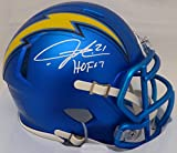 "LaDainian Tomlinson Autographed San Diego Chargers Blue Blaze Speed Mini Helmet ""HOF 17"" Beckett BAS"