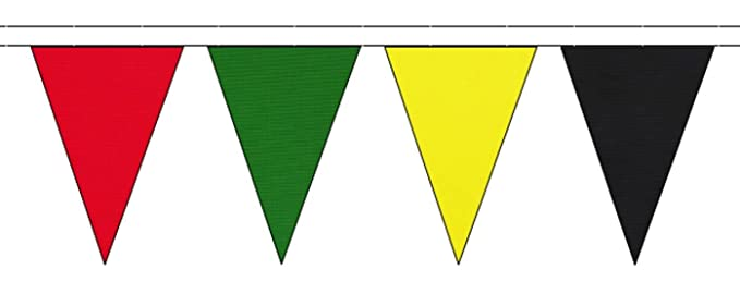 Poppy Remembrance Polyester Triangular Bunting 10m with 24 Flags