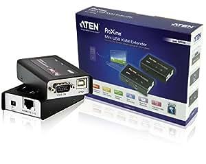 Aten CE100-AT-G - Alargador KVM (mini USB), negro y plateado