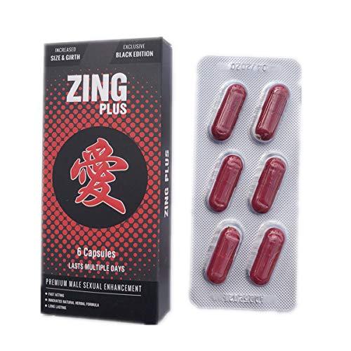New Black Zingplus Premium Male Enhancement Supplement 6PK Pills - Plus Male Enhancement