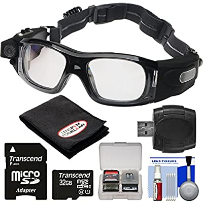 Coleman VisionHD G5HD-SPORT 1080p HD Action Video Camera Camcorder Waterproof POV Sports Safety Goggles with 32GB Card + Reader + Anti-Fog Cloth + Kit