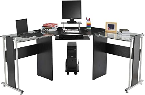 69″ Durable Sturdy Construction L-Shaped Computer Desk Modern PC Stand Corner Workstation Office