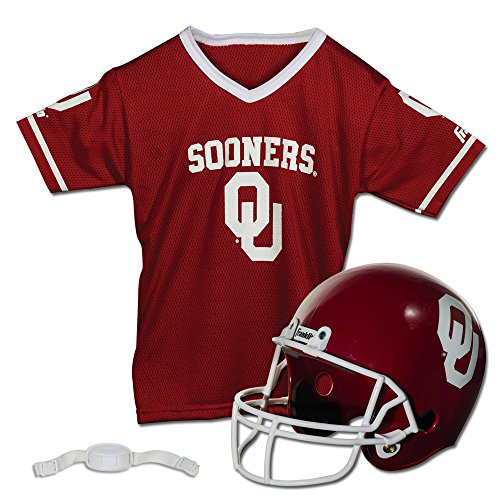 Franklin Sports NCAA Oklahoma Sooners Helmet and Jersey Set