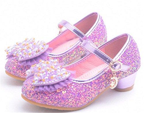 YOGLY Niña Princesa Zapatos de Tacon de Moda Zapatillas de Baile Para Niña  EU26-37  Amazon.es  Zapatos y complementos 8ad649eddf00