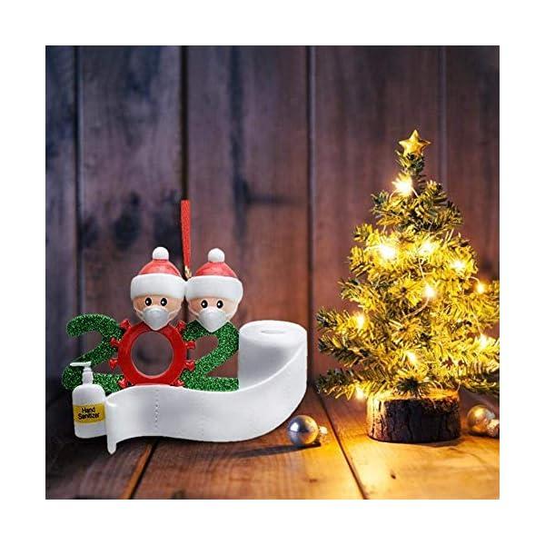 Afaneep Ornamenti Natalizi Decorazioni DIY 2 Persone con Nome Personalizzato Sopravvissuto Personalizzato, Ciondolo Albero di Natale, Famiglia di Decorazioni Natalizie Regali di Festa 6 spesavip