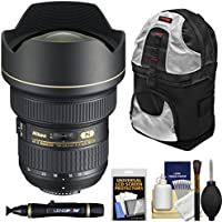 Nikon 14-24mm f/2.8G AF-S ED Zoom-Nikkor Lens with Sling Backpack + Kit for D3200, D3300, D5300, D5500, D7100, D7200, D750, D810 Cameras