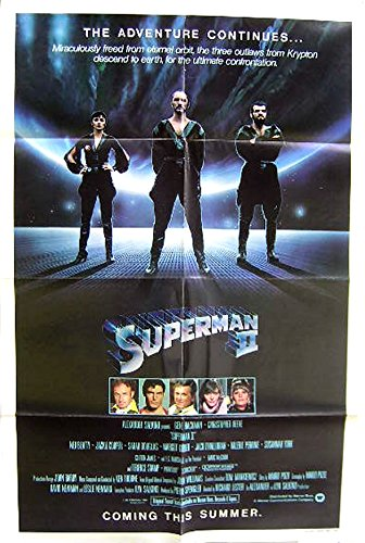 "Superman 2 Rare ""Teaser Style"" 27×41 Movie Poster"