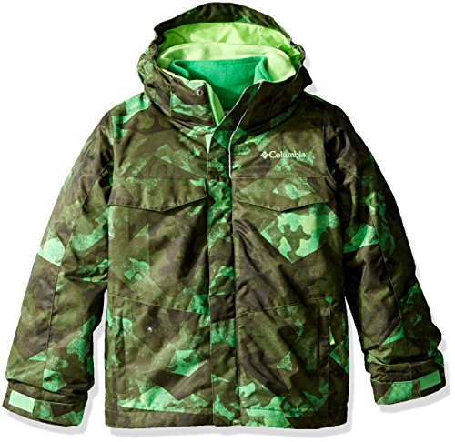 Columbia Boys Bugaboo Interchange Jacket, Small, Green Mamba Camo by Columbia
