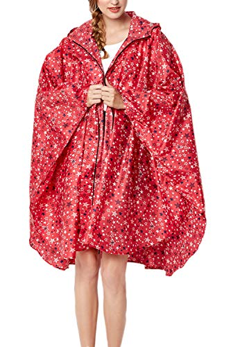 Yacun La Capa Exterior Impermeable Impermeable Poncho De Lluvia De Las Mujeres Chaqueta con Capucha Rose