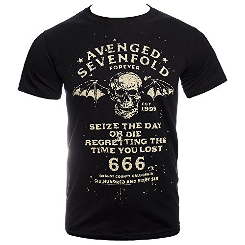 Avenged Sevenfold Wings (Avenged Sevenfold Men's Seize The Day T Shirt - X-Large, Black)