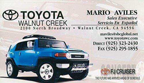 2012 Toyota FJ Cruiser Walnut Creek CA Dealer Postcard