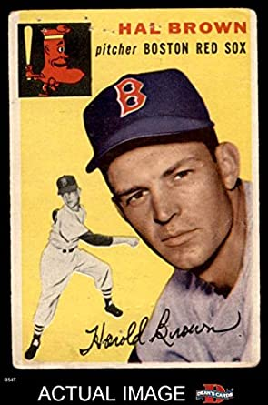 Amazoncom 1954 Topps 172 Hal Brown Boston Red Sox