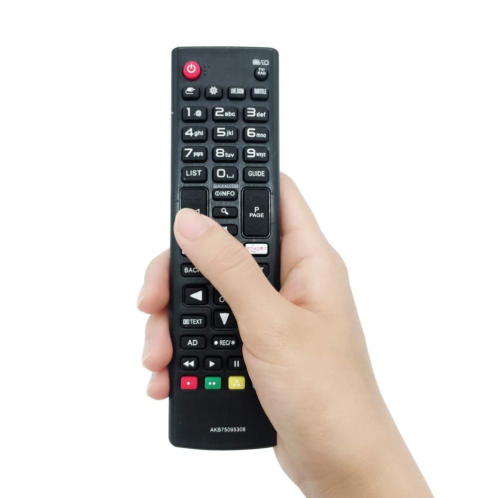 MYHGRC Nuevo Control Remoto de reemplazo para Control Remoto de TV LG AKB75095308 Ajuste para Varios TV Ultra HD de LG con Netflix  Botones