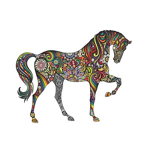 Horse custom sticker graphic decal for notebook car truck laptop many color options (Festival Colors) (Decal Option)