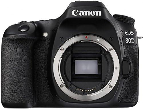 Canon Digital SLR Camera Body [EOS 80D] with 24.2 Megapixel (APS-C) CMOS Sensor and Dual Pixel CMOS AF – Black