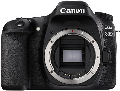 Canon Digital SLR Camera Body [EOS 80D] with 24.2 Megapixel (APS-C) CMOS Sensor and Dual Pixel CMOS AF - Black (Best Full Frame Dslr For Sports Photography)
