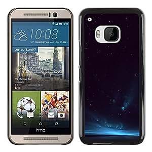 HTC One M9 , JackGot - Colorful peau Imprimé protection dur Retour Housse Shell (Aurora Borealis bleu ciel de la nuit Lumières)