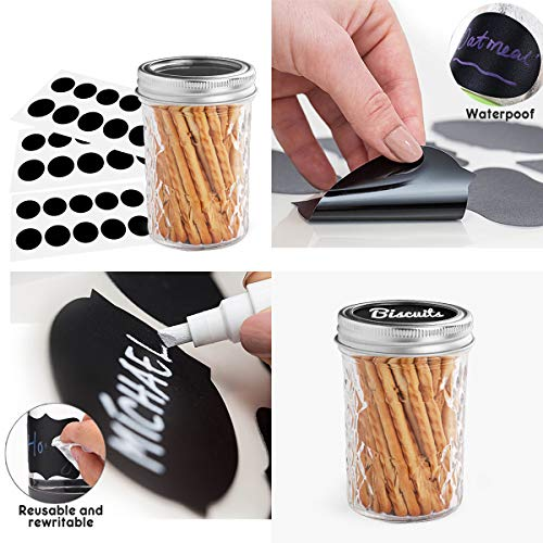 Mason Jars 8OZ, VERONES 8 OZ Canning Jars Jelly Jars With Regular Lids and Bands, Ideal for Jam, Honey, Wedding Favors, Shower Favors, Baby Foods, 30 PACK by VERONES (Image #1)