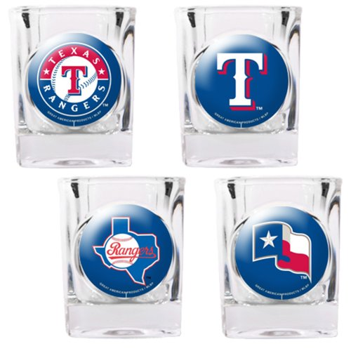 Texas Rangers 4 Piece Assorted Shot Glass (Texas Rangers Glass)