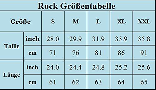 Omela Rockn Roll Rock Kostüm Damen 50er Jahre Rock Rockabilly Tellerrock Hohe Taille Faltenrock Blumenrock Blauen Punkt 5X3bHMp