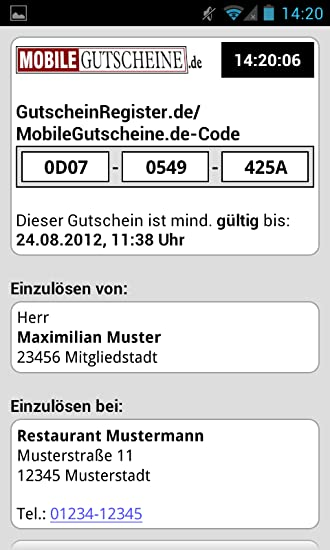 Mobile Gutscheine De