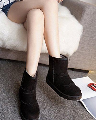 Mode Hiver Coton Glisser De Chaud Femmes Talon Non Minetom Chaussures Plat Bottes Bottes Neige Sur Bottines YxIzCx5wq