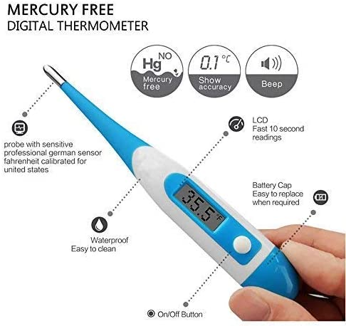 yakangda Digital Thermometer for Baby Kids and Adult Fever Thermometer Electronic Thermometer LCD Home /& Baby Body Temperature Child Adult Temperature Measurement Readings in 10-20 Seconds