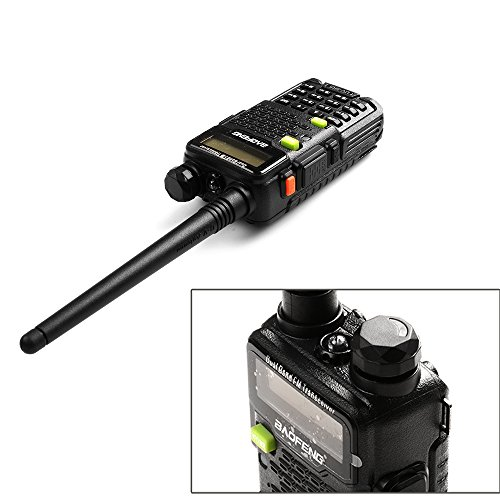 Two Way Radio, Baofeng Walkie Talkie UV 5R5 5W Dual Band Two Way Ham Radio Transceiver UHF/VHF 136 174/400 520MHz,65 108MHz FM with Upgraded Earpiece, Built in VOX Function,Battery,Charger