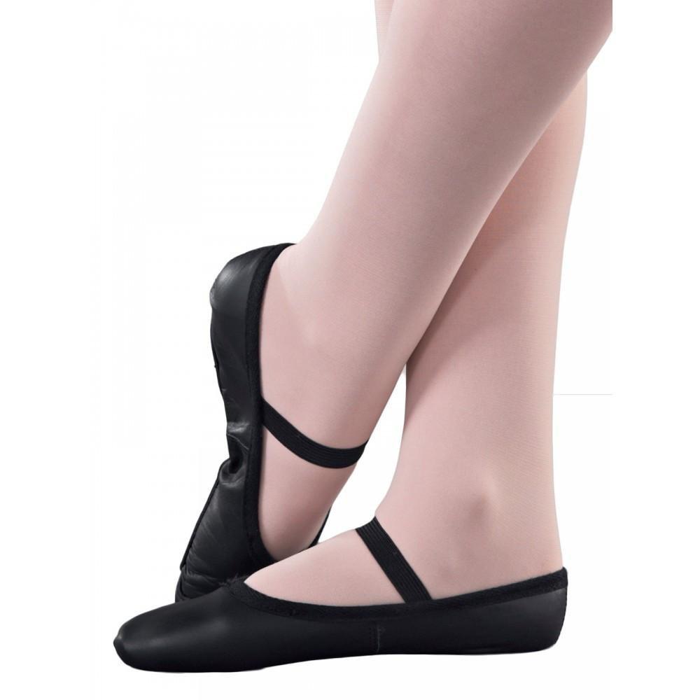 1st Position Black Leather Ballet Shoes