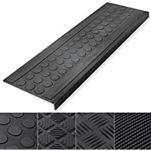 """Indoor & Outdoor Bullnose Rubber Non-Slip Stair Treads, 29.5"""" x 10"""" - 0.3"""" Thick 