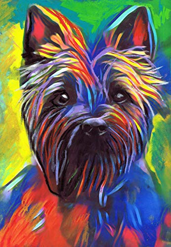 Dog Cairn Terrier Art (Cairn Terrier Wall Art Print, Colorful Dog Artwork, Dog Owner Gift, Colorful Modern Art, Dog Pastel Art Print, Dog Owner Wall Art)