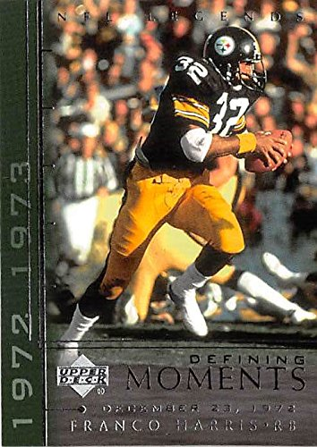 Franco Harris football card (Pittsburgh Steelers Hall of Famer) 2000 Upper Deck #DM8 Defining Moments Insert Edition Immaculate Reception