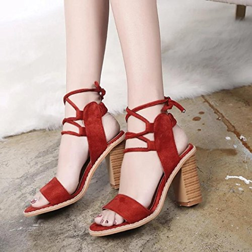 Closed High Cross VEMOW Sparkly Utility for Solid Women Club Suede Peep Shoes Tied Work Footwear for Toe Color Roman Gladiator Red Court Platform Party Office Heels Sandals Toe zwrqqx74Ad