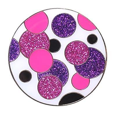 Navika Glitzy Polka Dot (Purple & Pink) Marker with Magnetic Hat Clip